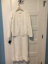 Memory Wear By Deborah White Dress With Coat Fringed S