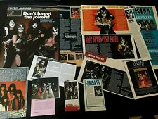 KISS  CLIPPINGS Adverts cuttings posters rare  GOOD CONDITION