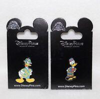 "Walt Disney Pin Trading 2 Pins ""DONALD PALM TREE SHIRT & DONALD AFRICAN ROBE"""