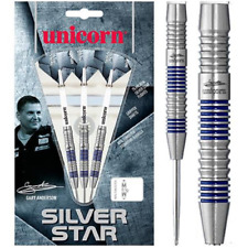 UNICORN STEEL TIP DARTS - SILVER STAR - GARY ANDERSON [22G] FREE SHIPPING