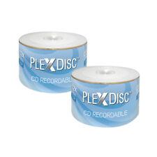 100 PlexDisc 52X 700 MB 80 MIN CD-R White Top non-printable Blank Disc 631-700