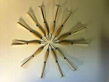 1 dozen Widdy Wooden Darts -Turkey Feathered steel tips #2 tournament style