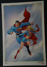 Superman Supergirl Print by Jim Lee Michael Turner