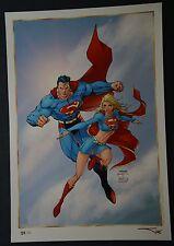 Superman Supergirl Print by Jim Lee Michael Turner