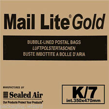 20 x XXL Mail Lite Gold Sealed Air Padded Envelopes ~ 14.75ins x 18.5ins K/7