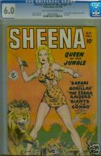 Sheena #4 Fall 1948 CGC Blue Label 6.0 Classic Cover