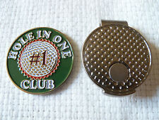"""Very Cool """"Hole In One Club"""" Golf Ball Marker and Magnetic Hat Clip + Bonus"""
