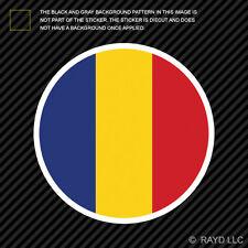 Round Romanian Flag Sticker Die Cut Decal Self Adhesive Vinyl Romania ROU RO