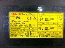 Fanuc A06B-0831-B200 AC spindle motor.