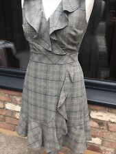 KATE SPADE Ladies Mod Plaid Dress Black/Multi Fit/flair Size US 10 UK 14 RRP£350