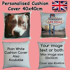 Personalised Custom Print Photo Cushion Cover
