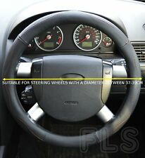 UNIVERSAL PEUGEOT FAUX LEATHER LOOK BLACK STEERING WHEEL COVER