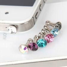10x Crystal Bling Anti Dust Plug Earphone Plug Ear Jack Cap For phone 3.5mm
