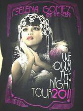 SELENA GOMEZ & THE SCENE WE OWN THE NIGHT TOUR 2011 XS T- SHIRT POP OUT OF PRINT