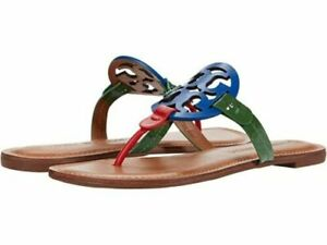 NIB Tory Burch Miller Sandal, Mix Leather Size US 8.5 Multicolor