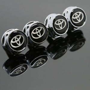 Laser Etched 4pcs Chevy Car License Plate Frame Bolts Fastener Screws Cap Cover