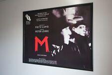 Fritz Lang's  M  BFI UK Quad Movie Poster