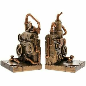 Steam Punk Fantasy Industrial Looking Bookends LP45787