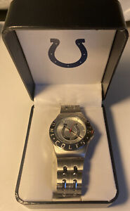 INDIANAPOLIS COLTS MENS WATCH 40MM IN SIZE SILVETONE COLOR BY GAMETIME CO. New