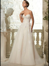 💟 New Blu by Mori Lee Wedding Dress Size 10   Tags Attached Color White