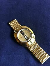 Rado Diastar Day Date vintage Mens wrist Watch Golden dial