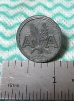 VINTAGE Old Style  AA AMERICAN AIRLINES BUTTON WATERBURY CO SILVER