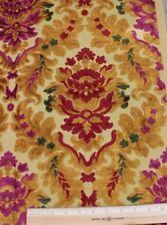 Antique French Vintage Heavy Cut Velvet Christmas Frame Fabric Sample c1940