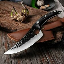 Handmade Stainless Steel Kitchen Boning Knife Fishing Knife Meat Cleaver Outdoor