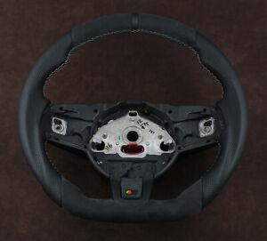 Jaguar custom steering wheel Alcantara Nappa thick flat bottom F type R S