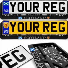 SCO Flag and Coat of Arms Badge Pressed Number Plates Metal Car REG Road Legal