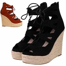 Dolcis Wedge Shoes for Women's Faux Suede