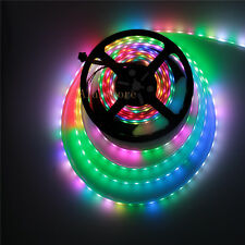 5V WS2813 Dual data New Ver. WS2812B 5050 RGB LED Strip 5M 300SMD IP67 Black PCB