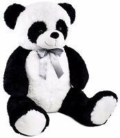 "BRUBAKER Panda Teddy Bear with Bow 32"" Plush Soft Toy Stuffed Animal"