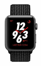 Apple Watch Nike+ 38mm Aluminiumgehäuse in Space Grau mit Sport Schleife in Pure Platinum/Schwarz (GPS + Cellular) - (MQMA2ZD/A)