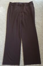 Investments Womens Brown Dress Pants Size 16R