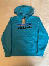 Patagonia Kids Lightweight Graphic Hoody Sweatshirt P-6 Logo Marko Blue Sz L(12)