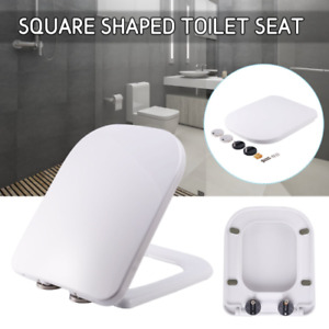 Luxury Square Toilet Seat Top Fixing Soft Close Anti Slam One Button Release