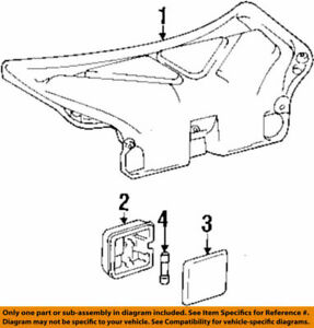 81330-33010 Toyota Lamp assy, luggage compartment, no.1 8133033010, New Genuine