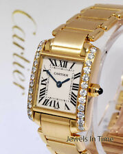 Cartier Ladies Tank Francaise 18k Yellow Gold & Diamonds Watch 2385