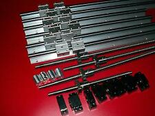 SBR16-380/1400/1400mm linear rail+4 ballscrew RM1605+BK/BF12 end bearing set CNC