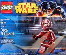 LEGO STAR WARS TC-4 5002122 PROTOCOL DROID C-3PO MINIFIG POLYBAG RED MAROON BNIB