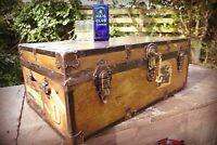 Watajoy of London Antique Late 19th Century  Ellerman Travel Trunk Coffee Table