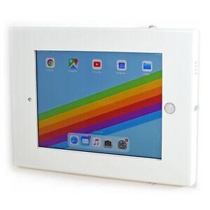 Lockable Wall Mount Security Display Case iPad 9.7 2011-2018 White TAW97L01W