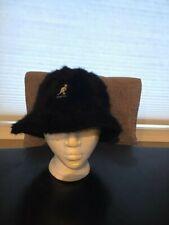 Vintage Kangol Black Fur Bucket Hat Rap Hip Hop Used Small Rare