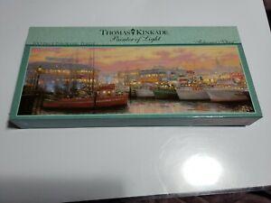New Sealed Thomas Kinkade 700 Pc Panoramic Puzzle Fisherman's Wharf 2006 Ceaco