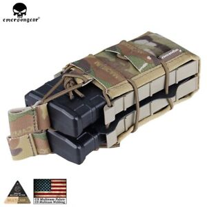 EMERSON Tactical Double Modular Magazine Pouch MOLLE High Capacity Mag pouches