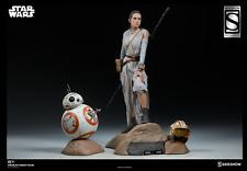 NIB Sideshow Star Wars Exclusive Rey & BB-8 Premium Format Figures, Set of 2, LE