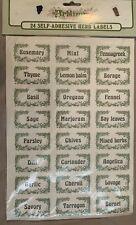 New listing 24 Jar Herb Labels Self Adhesive Storage Jar Stickers Artlines Made in Britain