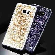 Coque Bling Paillette Brillant Housse Etui en TPU Para-chocs pour iPhone Samsung