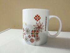 Starbucks Christmas Holiday Coffee Mug/Cup Poinsettia Flower Pattern 12 oz.
